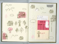 #library #book doodles by a favourite sketch artist  Mike Lowery