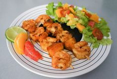 Recette : Brochette de crevettes aux 3 agrumes - Paléo Régime