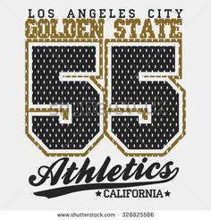 California Print Typography Graphics, California T-shirt Printing Design, original California print wear, Vintage Print for sportswear, California apparel print. Vector