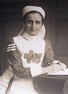 +~+~ Vintage Photograph ~+~+  Decorated nurse