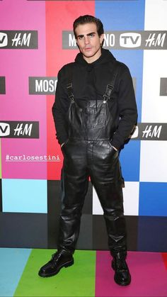Leather Fashion, Leather Men, Leather Pants, Famous Men, Hot Guys, Have Fun, Overalls, Menswear, Celebrities