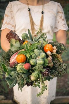 Fruits & Veggies in Wedding Bouquets