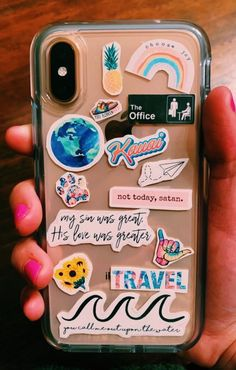In love with these stickers on this clear iphone case! Want a cute iphone case? Click the link below Cute Cases, Cute Phone Cases, Diy Phone Case, Iphone Phone Cases, Phone Covers, Vsco, Tumblr Phone Case, Aesthetic Phone Case, Accessoires Iphone