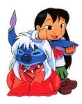 Stitch InuYasha crossover. Both things I used to be obsessed with as a child.