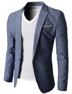 Shop a great selection of Mens Slim Fit Suits Casual Solid Lightweight Blazer Jackets One Button Flap Pockets. Find new offer and Similar products for Mens Slim Fit Suits Casual Solid Lightweight Blazer Jackets One Button Flap Pockets. Blazer En Tweed, Linen Blazer, Blazer Jacket, Gq Style, Mode Style, Style Men, Sharp Dressed Man, Well Dressed Men, Blazer Fashion