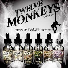 Twelve monkeys is here!   esauce.co.uk   #ecig #ejuice #vape #vaping #eliquid
