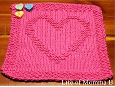 Heart dishcloth - 2