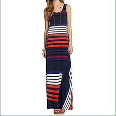 4b2367e40d5 Calvin Klein Striped Maxi Dress - bought this recently. Looks really good  on