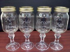 Custom Etched Redneck Wine Glass Wedding by VinylDecalsandGlass, $35.00