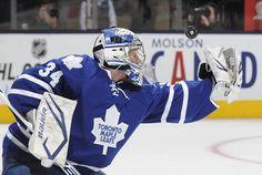 James Reimer #34 of the Toronto Maple Leafs  (Photo by Graig Abel/NHLI via Getty Images)