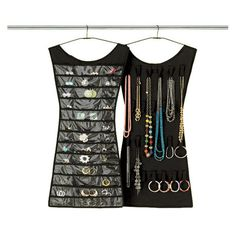 I found this amazing 2-Sided Dress-Shaped Jewelry Organizer - 36 Clear Vinyl Pockets & 18 Velcro Loops at nomorerack.com for 71% off. Sign up now and receive 10 dollars off your first purchase