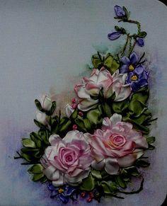 Gallery.ru / Катя Кубрак - Розы, ландыши, анютки(фиалки), цветной горошек - Innetta