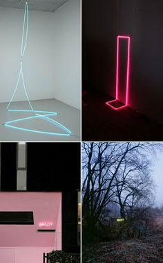 thin lines of neon