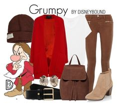 """""""Grumpy"""" by leslieakay ❤ liked on Polyvore featuring Krochet Kids, 7 For All Mankind, J Brand, True Religion, Derek Lam, Melissa Joy Manning, Mulberry, New Look, disney and disneybound"""