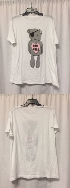 Women T Shirts: Wildfox Couture White Crew Neck Graphic Tee Tshirt Top Size S A2 -> BUY IT NOW ONLY: $39.95 on eBay!
