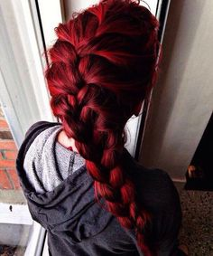 Then you can show it off with your hair color! Try these 110 Feiry red hair ideas to look fierce and flirty! Pretty Hairstyles, Braided Hairstyles, Bright Red Hair, Magenta Hair Colors, Bright Colors, Color Red, Red Hair Dye For Dark Hair, Ombre Hair, Deep Red Hair Color