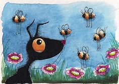 Busy little bees... watch out Stressie Cat... enjoy!