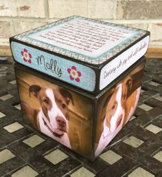 Pet Urn  dog urn Personalized Dog Urn by BlocksFromTheHeart
