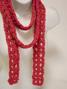 Called a scarf, but more like a necklace.  Will really bring a white tee shirt & jeans to life!  $17.00