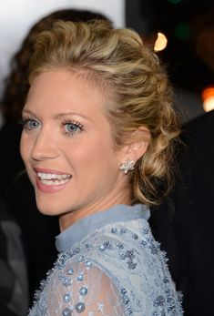Braided Updo Lookbook: Brittany Snow wearing Braided Updo (1 of 15). Intricately woven braids gave Brittany Snow's chic updo a hint of modern romance.