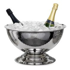 Torre & Tagus, Kiro Hammered Pedestal Punch Bowl Wine Chiller, 920005