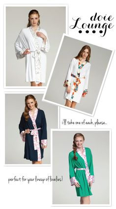 Gorgeous Bridesmaid Gifts!  #weddings #bridesmaids #robes