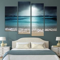 HD PRINTED LIMITED EDITION Sea Scenery With Beach CANVAS