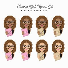 Planner Girl Clipart Set – Little Magic Prints