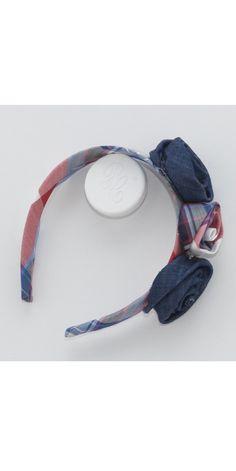 Красно-синий клетчатый ободок срозами. Pili Carrera