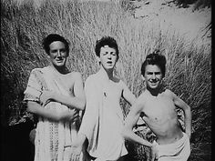 1957. Paul McCartney, George Harrison and friend