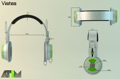 Diseño de auriculares para dj