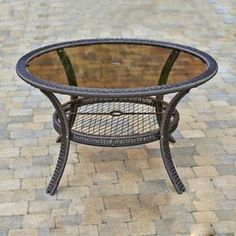 gazebo penguin glasstop black round patio dining table - Big Lots Dining Chairs