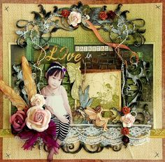 Live In Fairytale - Two Peas in a Bucket. - Little girl cut to sit on the lace border