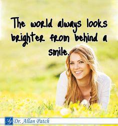 #The world always looks brighter