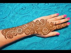 BEST MEHNDI FOR KARVACHAUTH AND DIWALI 2018 NEW BEAUTIFUL DESIGN - YouTube Henna Art Designs, Unique Mehndi Designs, Dulhan Mehndi Designs, Beautiful Henna Designs, Beautiful Mehndi, Mehndi Designs For Hands, Mehandi Designs, Mehendi, Mehndi Video