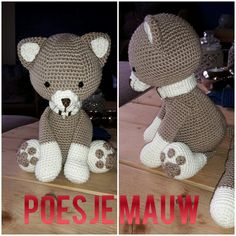 Poesje mauw made by me. Pattern My Krissiedolls.