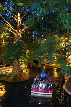 The River Walk in San Antonio where trees and 20 stone bridges are wrapped with twinkling lights—last year's display included 1.8 million bulbs. Paper lanterns lining the river, as well as choirs singing from floating boats make this a go-to holiday event.