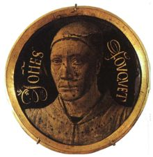 Jean Fouquet, self portrait (1450). The earliest portrait miniature, and possibly the earliest formal self-portrait  www.artexperiencenyc.com