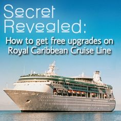 Cruise And Crop: Royal Caribbean Crown & Anchor Upgrades.  Secrets Revealed on how to get upgraded on Royal Caribbean Cruise Line.