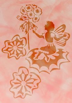 Simple Schablone A Blume Hibiskus Bl te Hawaii LM