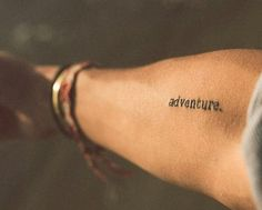 35 Unique Travel Tattoos to Fuel Your Eternal Wanderlust: Warning: Only committed travelers allowed. Little Tattoos, Mini Tattoos, Body Art Tattoos, Small Tattoos, Cool Tattoos, Tatoos, Wanderlust Tattoos, Adventure Tattoo, Adventure Awaits