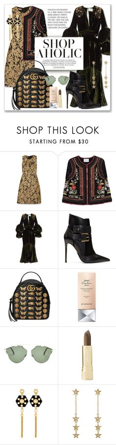 """Shopaholic:  November 17, 2017"" by jzanzig ❤ liked on Polyvore featuring Michael Kors, Velvet by Graham & Spencer, Johanna Ortiz, Balmain, Gucci, Givenchy, Christian Dior, Axiology, Henri Bendel and Jennifer Meyer Jewelry"