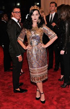 Singer Katy Perry Wearing: Dolce & Gabbana Credit: Getty Images