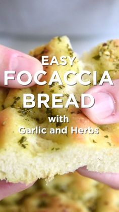 How to make focaccia bread that's perfectly crisp on the outside and soft and chewy on the inside.