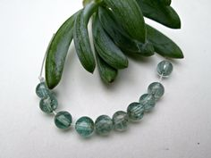 Natural Blue-Green Apatite Round Beads, 4-5mm, Grade AA, 10 loose beads #Spacer