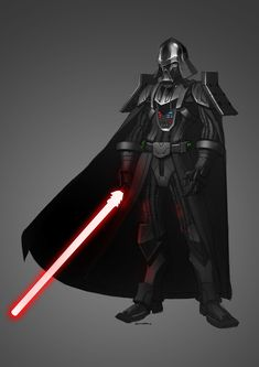 Vader Redesign by Gary Chan on ArtStation. Star Wars Characters Pictures, Star Wars Images, Star Wars Sith, Star Wars Rpg, Star Wars Concept Art, Star Wars Fan Art, Star Wars Cartoon, Star Wars Painting, Star Wars Facts