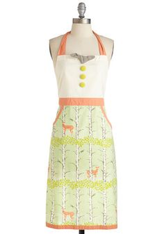 All Good in the Woods Apron. Your friends have faith that anything you concoct while wearing this cotton apron - available in May - will be delish! #multi #modcloth