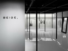 Interior of the Beige store by Nendo.