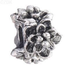 BE123 Big Hole Silver Plated Charms European Heart Fashion Bead Fit European Bracelets & Necklace