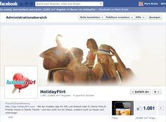 facebook holidayFlirt fanpage, editing, marketing
